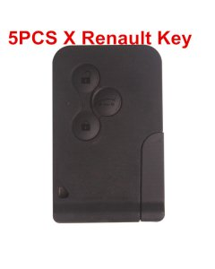 5pcs Renault 3 Button Smart Key 433MHZ