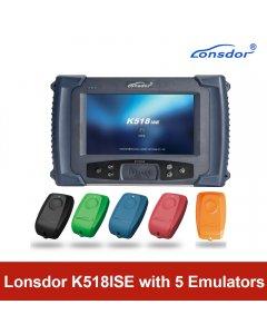 Lonsdor K518ISE Programmer Plus SKE-IT Smart Key Emulator 5 in 1 Set Full Package
