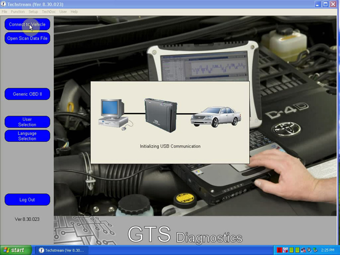V8.30.023 MINI VCI FOR TOYOTA TIS Techstream Single Cable Software-1