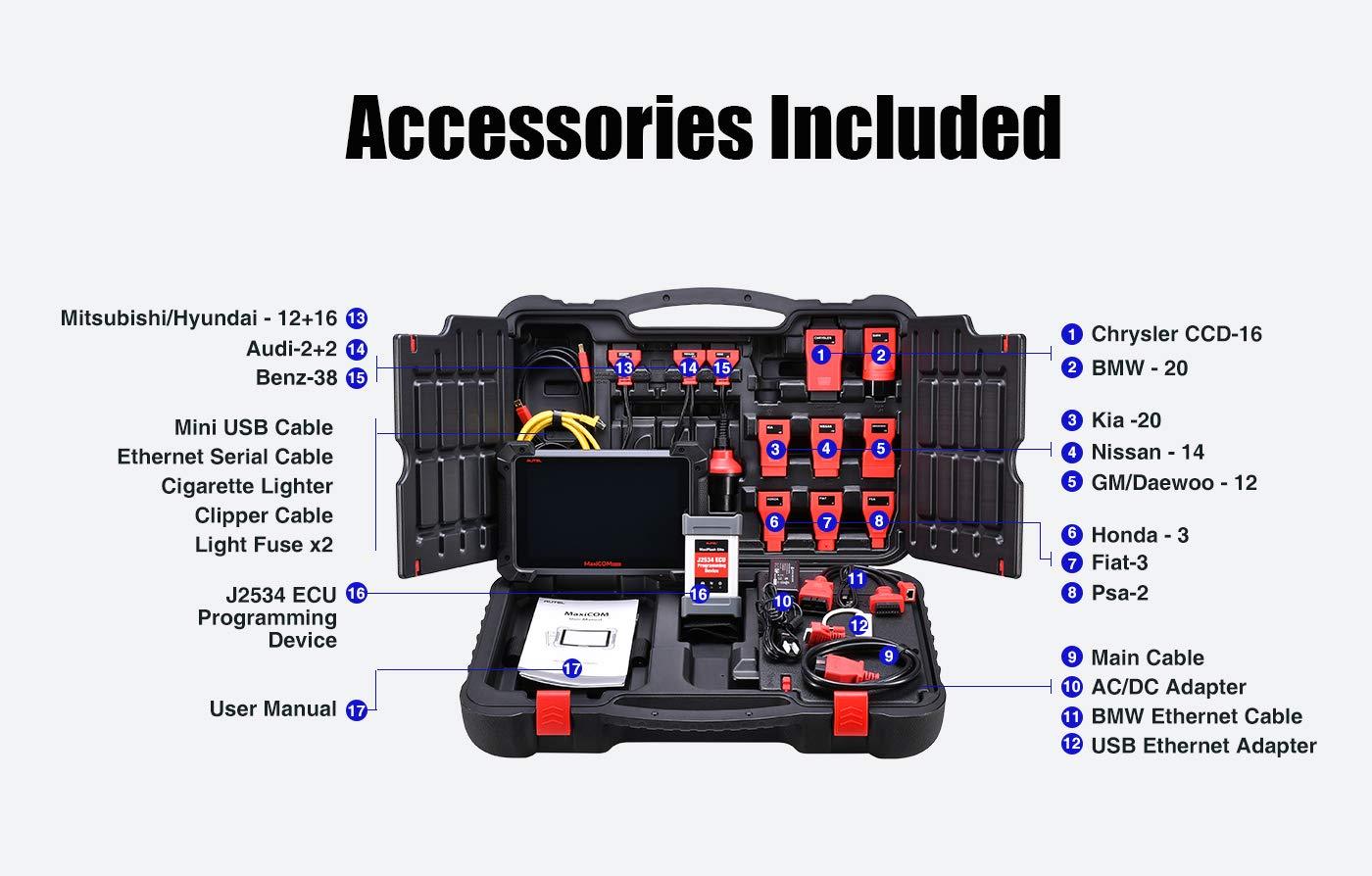 Autel MaxiCOM MK908 Package List
