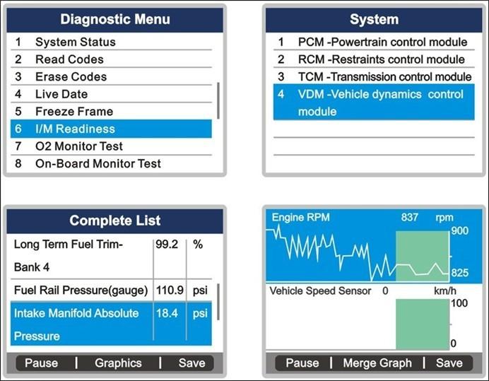 autel maxidiag elite md701 diagnostic menu