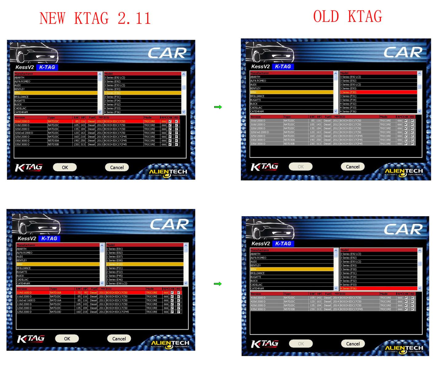 New KTAG Compare to Old KTAG
