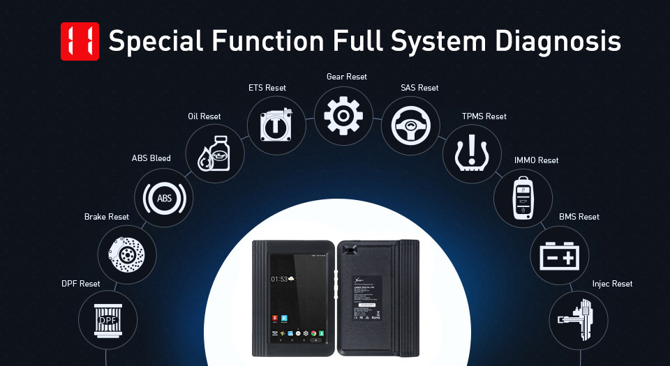 Launch X431 V 8 inch Special Functions