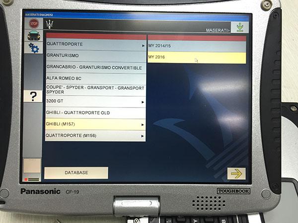 MDVCI Maserati Detector Software
