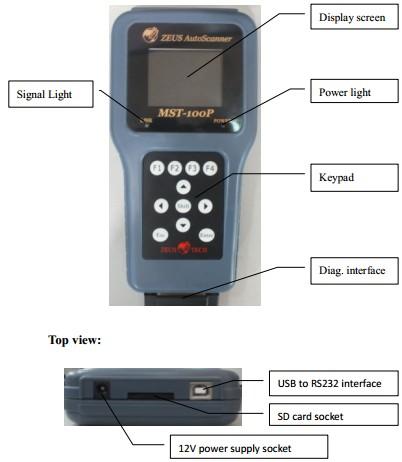 MST-100P 8 in 1 Handheld Motorcycle Scanner