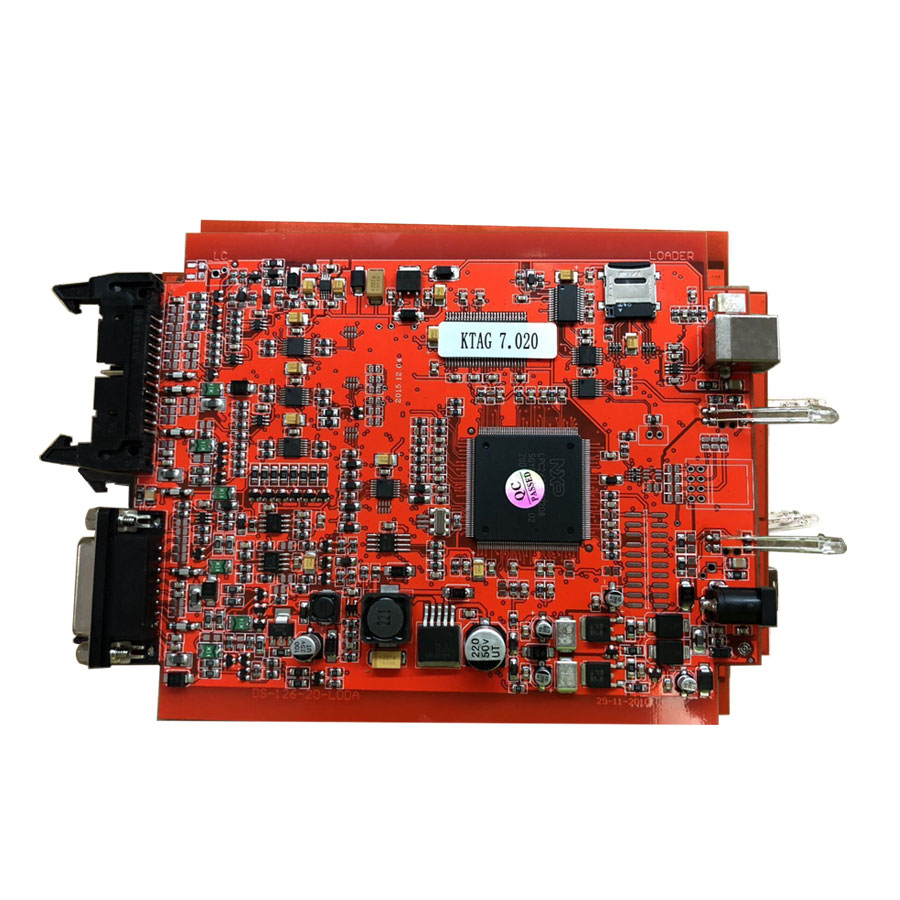 New 4LED Red PCB KTAG 7.020 EU Online Version SW V2.23
