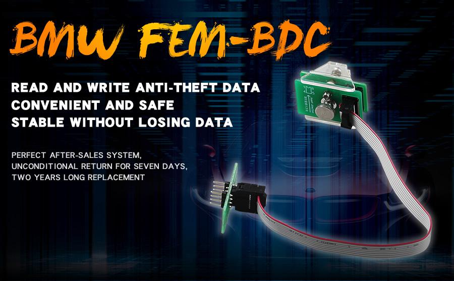 OEM BMW FEM-BDC 95128/95256 Chip Anti-theft Data Reading Adapter 8Pin Adapter Work with VVDI Prog/CG Pro 9S12/Orange5
