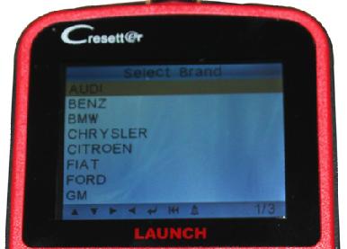 launch creader oil lamp reset tool vehicle list