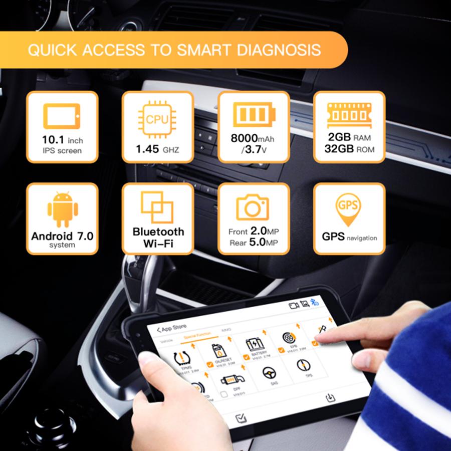 Humzor NexzDAS Pro Bluetooth 10inch Tablet