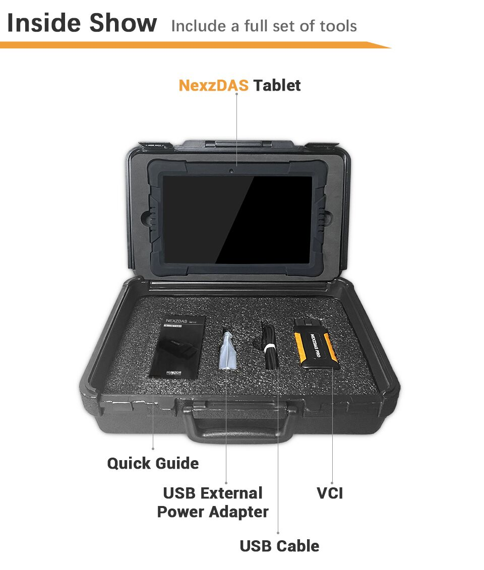 Humzor NexzDAS Pro Package List