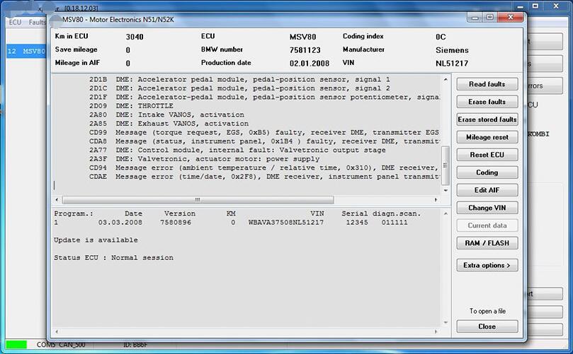 V2018.12 BMW E/F Scanner II Full Version