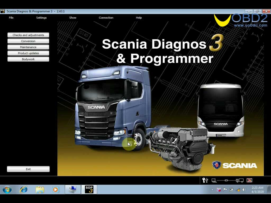 Scania VCI3 SDP3 V2.43